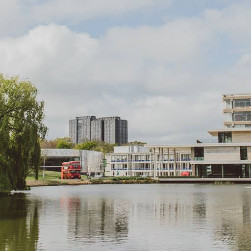 View of Colchester campus from the lake