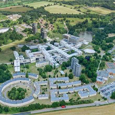 Colchester campus aerial view